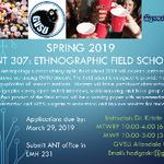 Class Announcement - ANT 370: Ethnographic Field School
